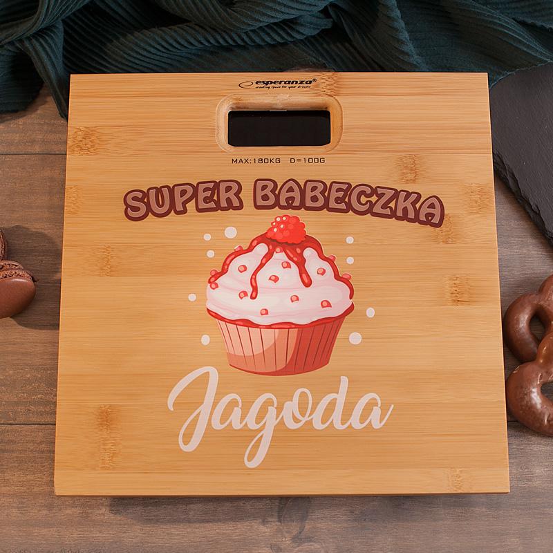 Zdjęcie w galerii - WAGA łazienkowa Super Babeczka fajny pomysł na prezent PERSONALIZOWANA