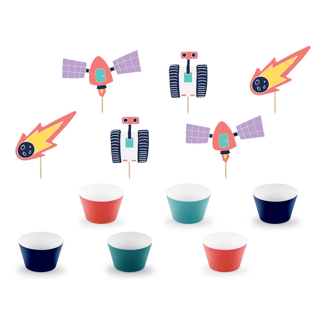 Zdjęcie w galerii - ZESTAW do dekoracji muffinek Kosmos 6szt