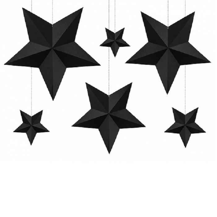 Zdjęcie slidera - Dekoracja świąteczna Gwiazdy, CZARNY