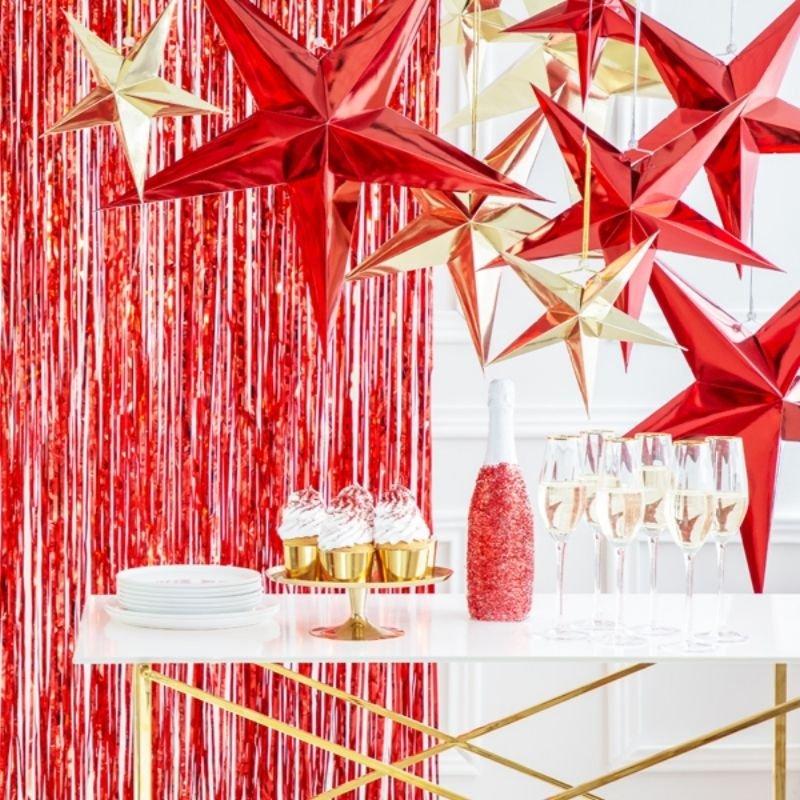 Zdjęcie w galerii - Gwiazda papierowa, dekoracja świąteczna 45cm
