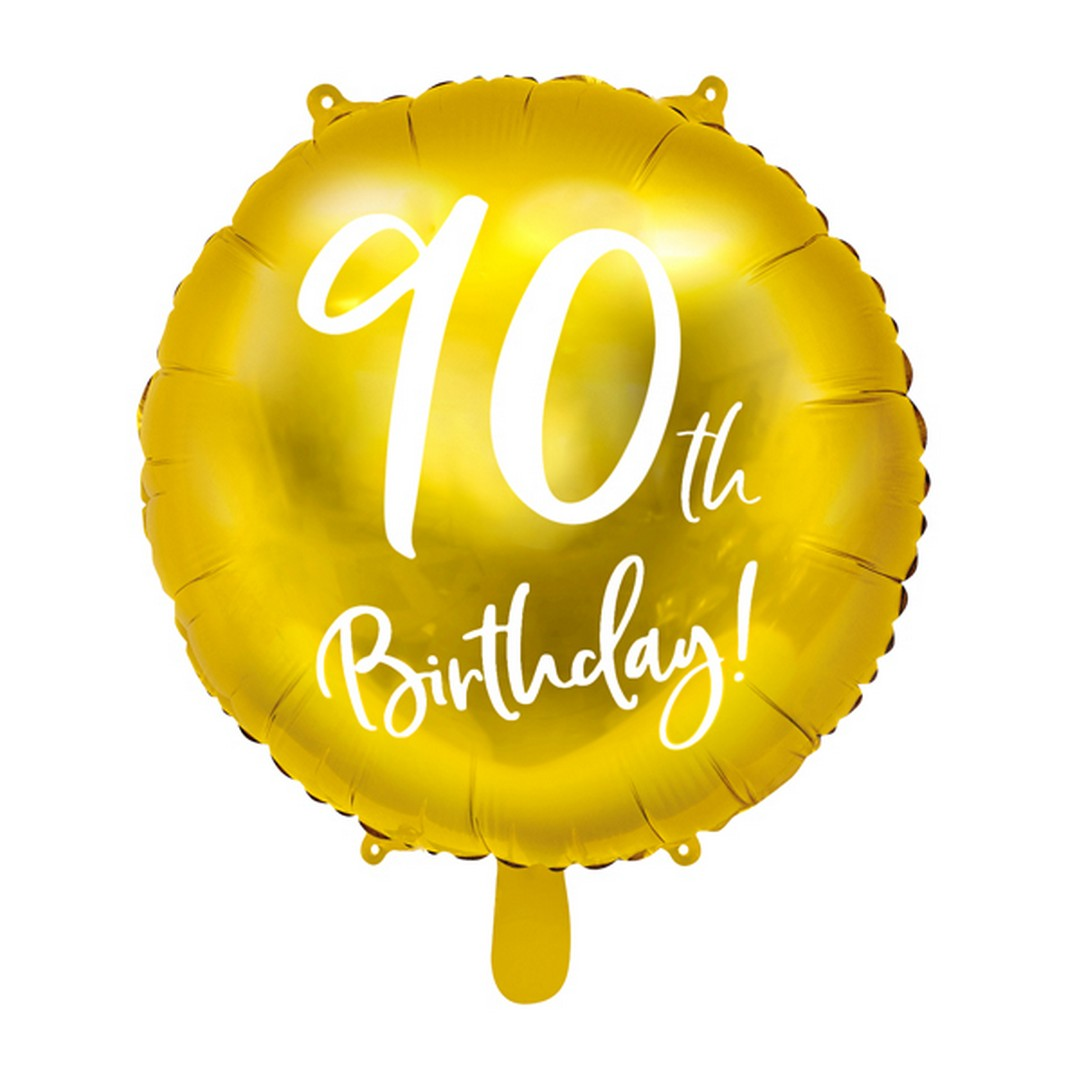 Zdjęcie slidera - BALON foliowy Złoty na 90 Urodziny!