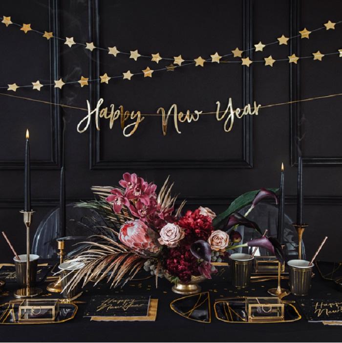 Zdjęcie w galerii - Czapeczki Happy New Year, 16cm, 6 szt.