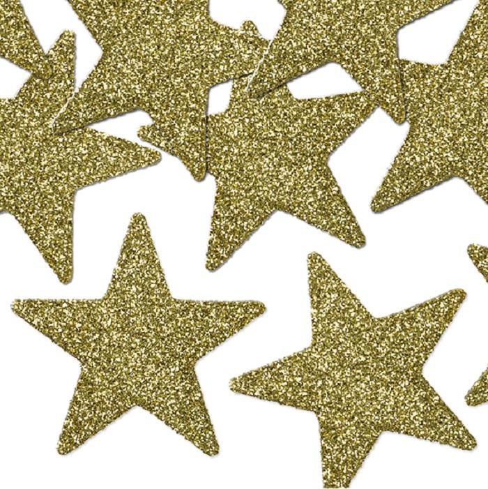 Zdjęcie w galerii - GWIAZDKI dekoracyjne świąteczne złote/srebrne