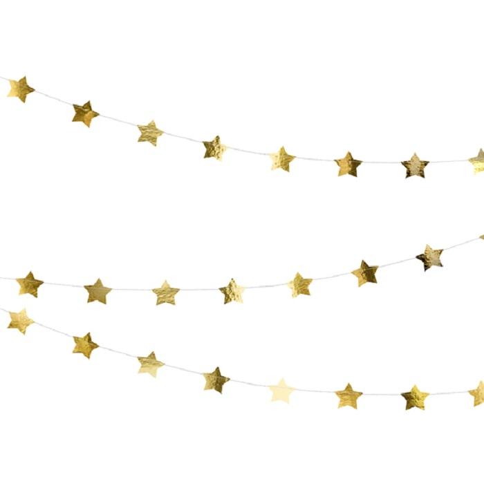 Zdjęcie w galerii - Girlanda Gwiazdki, złoty, 3,6m