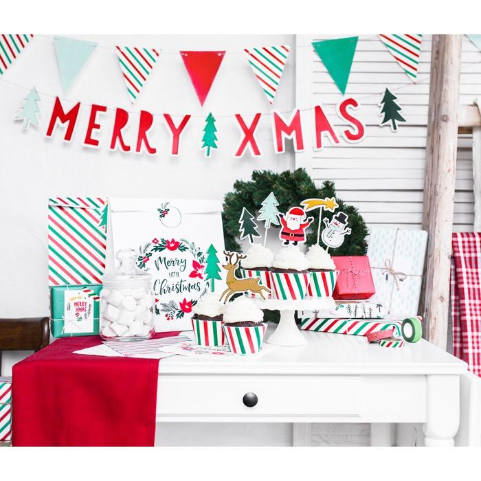Zdjęcie w galerii - Zawieszki do prezentów Merry Xmas, mix, 5,5×8,5cm, 6 szt.