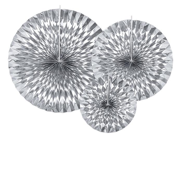 Zdjęcie w galerii - Rozety dekoracyjne, srebrny, 3 szt.