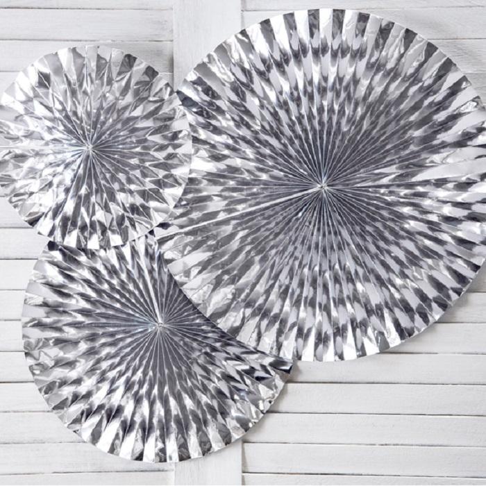 Zdjęcie slidera - Rozety dekoracyjne, srebrny, 3 szt.