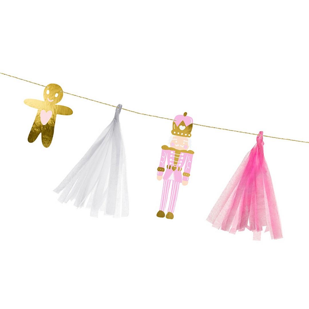 Zdjęcie w galerii - GIRLANDA papierowa Świąteczne Symbole Różowe Boże Narodzenie