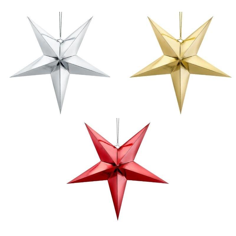 Zdjęcie slidera - Gwiazda papierowa, dekoracja świąteczna 45cm