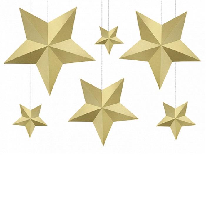 Zdjęcie slidera - Dekoracja świąteczna Gwiazdy, ZŁOTY