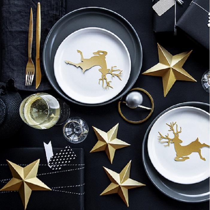 Zdjęcie w galerii - Dekoracja świąteczna Gwiazdy, ZŁOTY