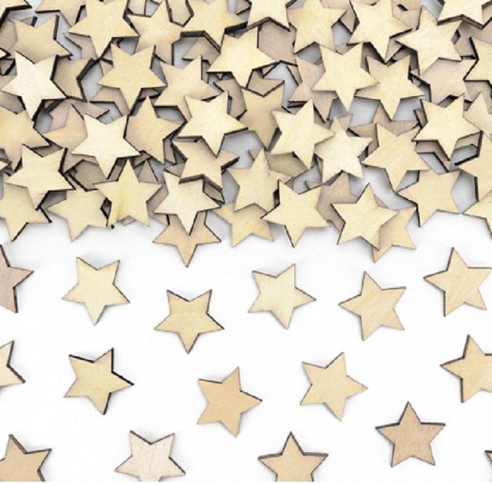 Zdjęcie w galerii - Drewniane konfetti Gwiazdki, 2x2cm