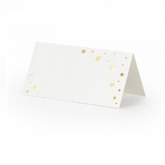Zdjęcie w galerii - Wizytówki na stół Let's Celebrate – Gwiazdki, 9,5×5,5cm, 10 szt