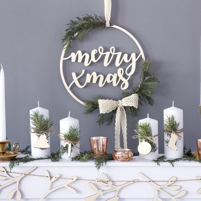 Zdjęcie slidera - NAPIS drewniany świąteczny bożonarodzeniowy Merry Xmas 28cm