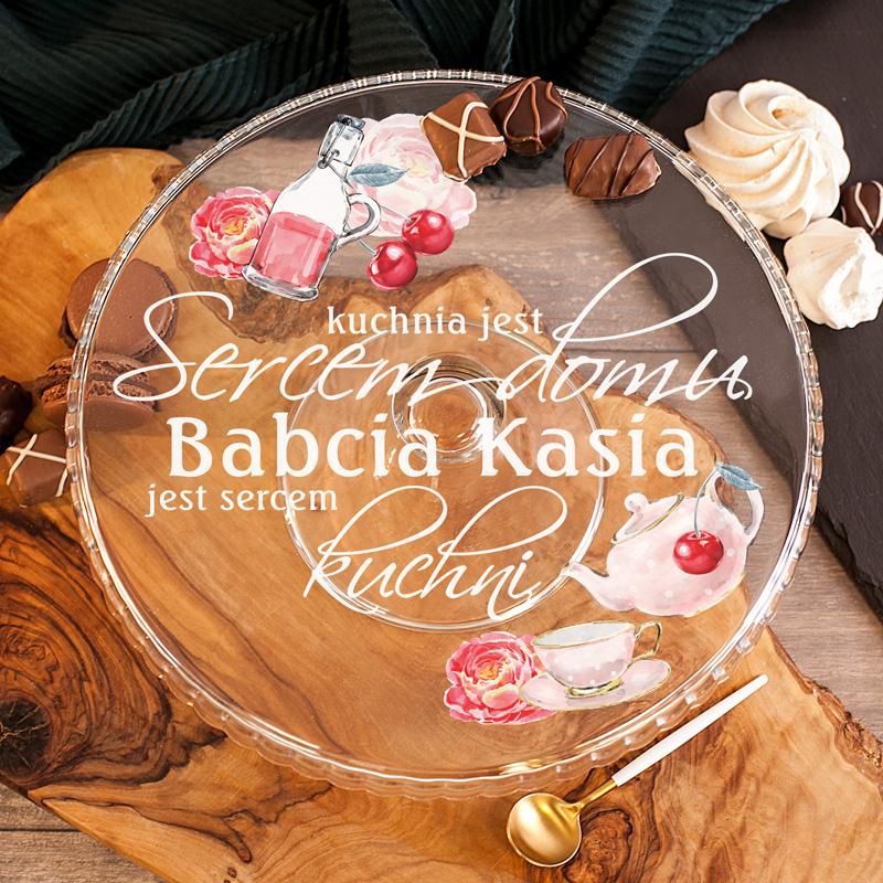 Zdjęcie w galerii - PATERA na Ciasto Sercem Domu Jest Kuchnia Prezent Dla Babci PERSONALIZOWANA