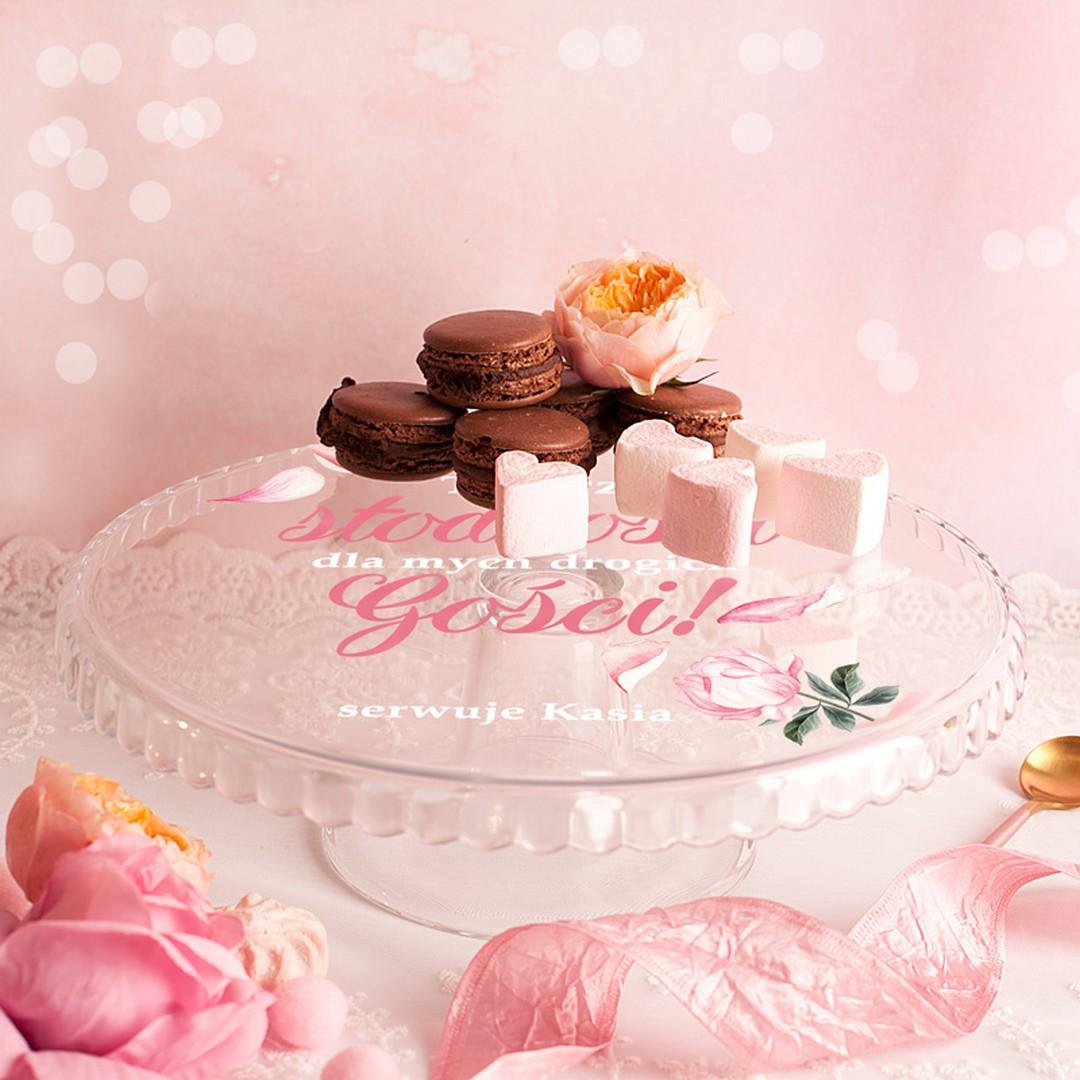 Zdjęcie w galerii - PATERA na Ciasto Talerz Słodkości Dla Gości PERSONALIZOWANA
