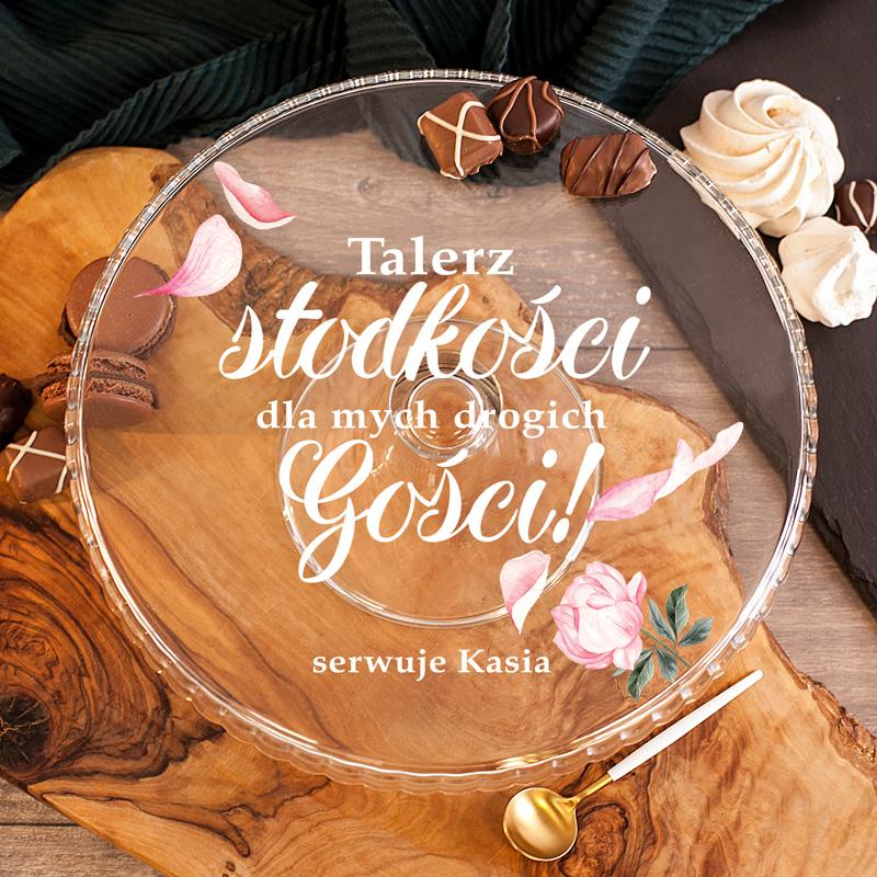 Zdjęcie slidera - PATERA na Ciasto Talerz Słodkości Dla Gości PERSONALIZOWANA