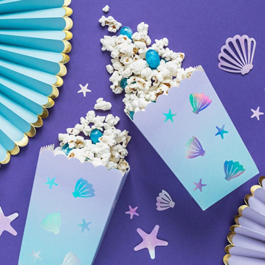 Zdjęcie slidera - PUDEŁKA na Popcorn Muszelki HOLO 6szt