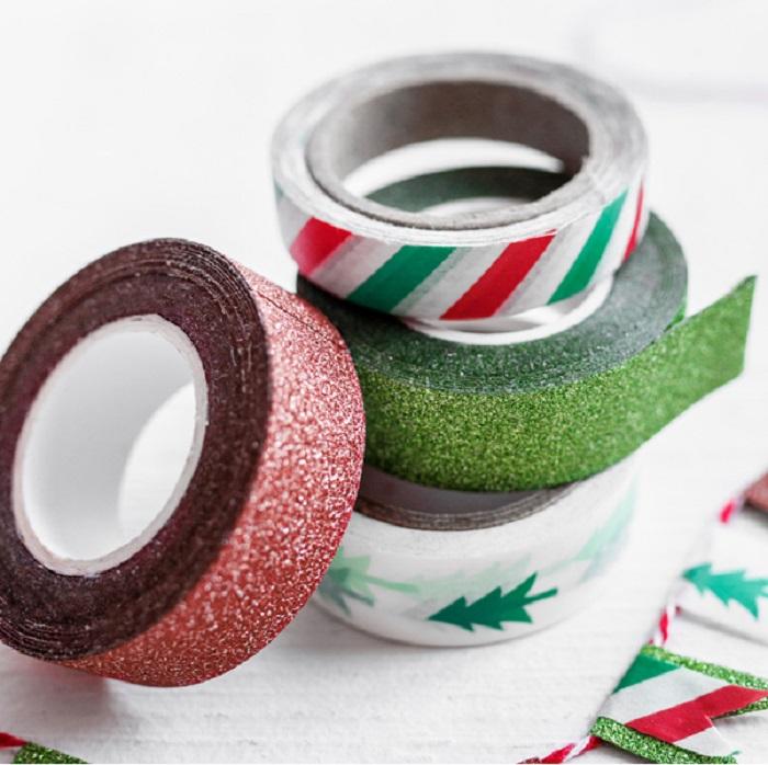 Zdjęcie slidera - Taśma dekoracyjna Merry Xmas, mix, 4 szt.