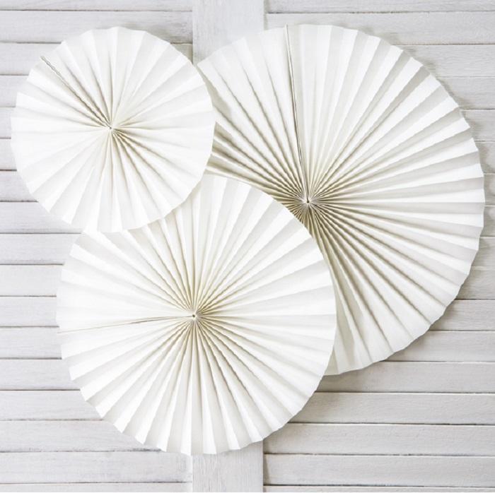 Zdjęcie slidera - Rozety dekoracyjne, złamana biel, 3 szt.