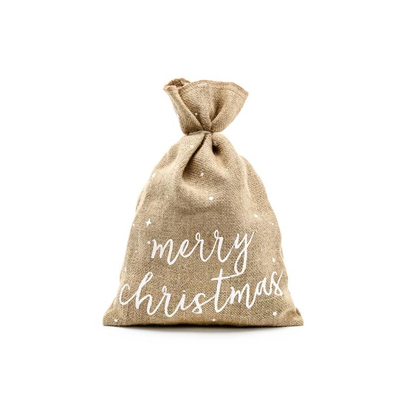 Zdjęcie w galerii - Worek jutowy Z napisem do Wyboru Merry Christmas, Special Surprise