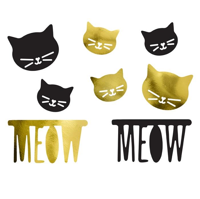 Zdjęcie w galerii - Dekoracje papierowe – Kotek, mix, 8 szt