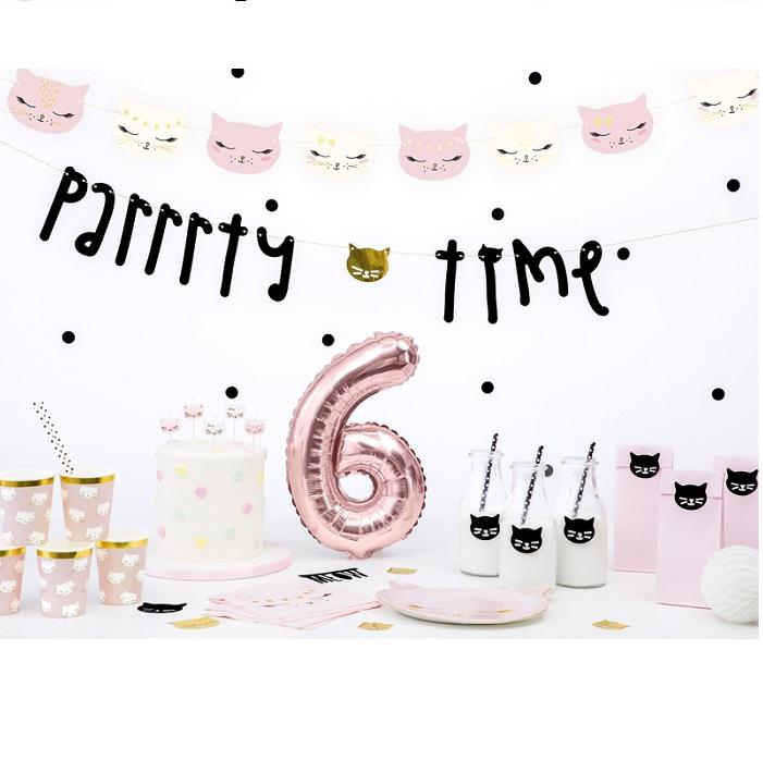 Zdjęcie w galerii - Świeczki urodzinowe Kotek, mix, 2cm, 6 szt