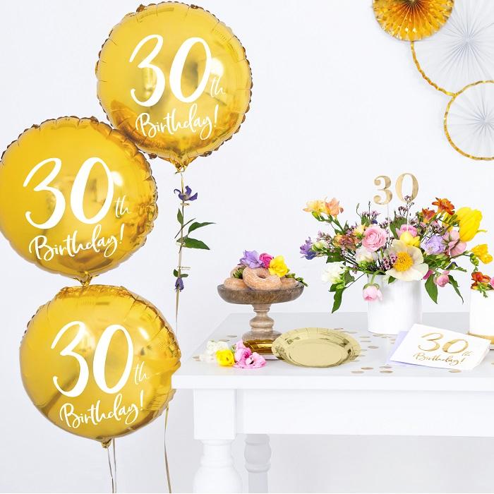 Zdjęcie w galerii - BALON foliowy Złoty na 30 Urodziny!