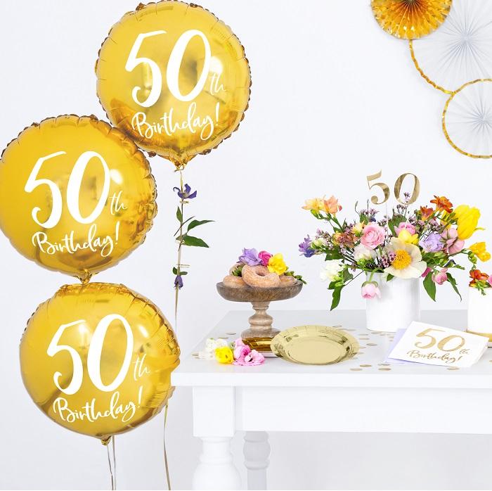 Zdjęcie w galerii - BALON foliowy Złoty na 50 Urodziny!