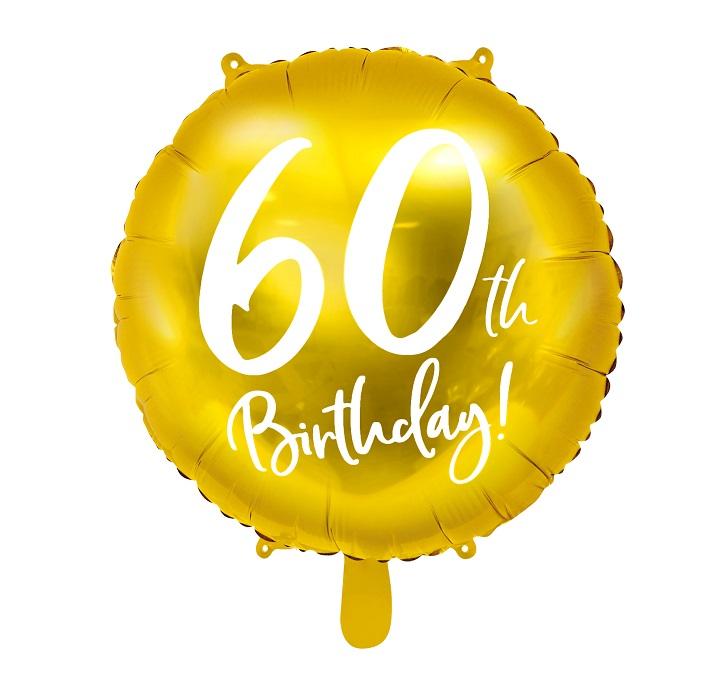 Zdjęcie w galerii - BALON foliowy Złoty na 60 Urodziny!