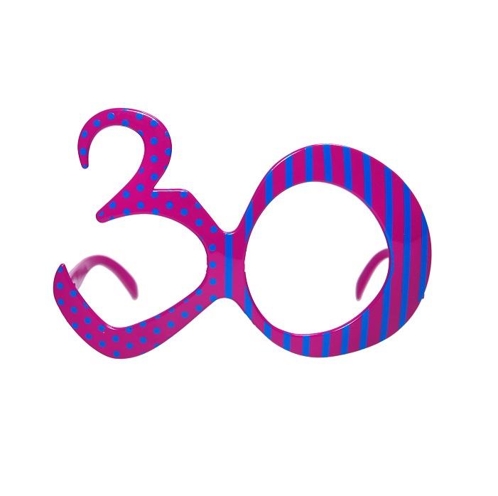 Zdjęcie w galerii - Okulary na 30 urodziny, fuksja