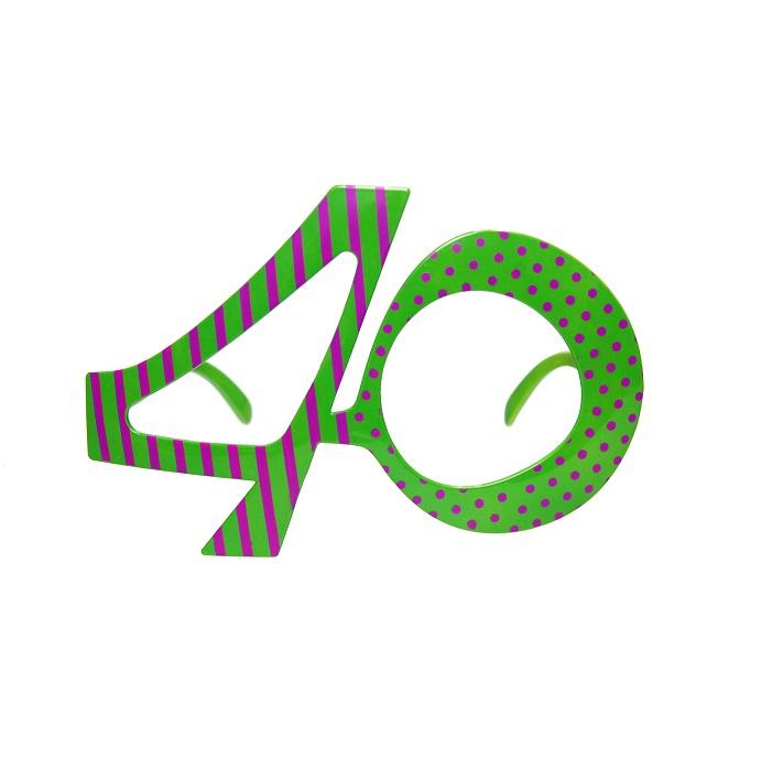 Zdjęcie w galerii - Okulary na 40 urodziny, zielony