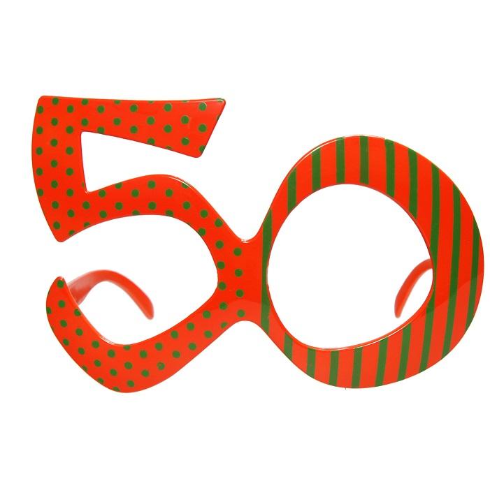 Zdjęcie w galerii - Okulary na 50 urodziny, pomarańcz