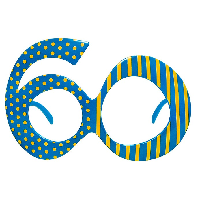 Zdjęcie w galerii - Okulary na 60 urodziny, niebieski