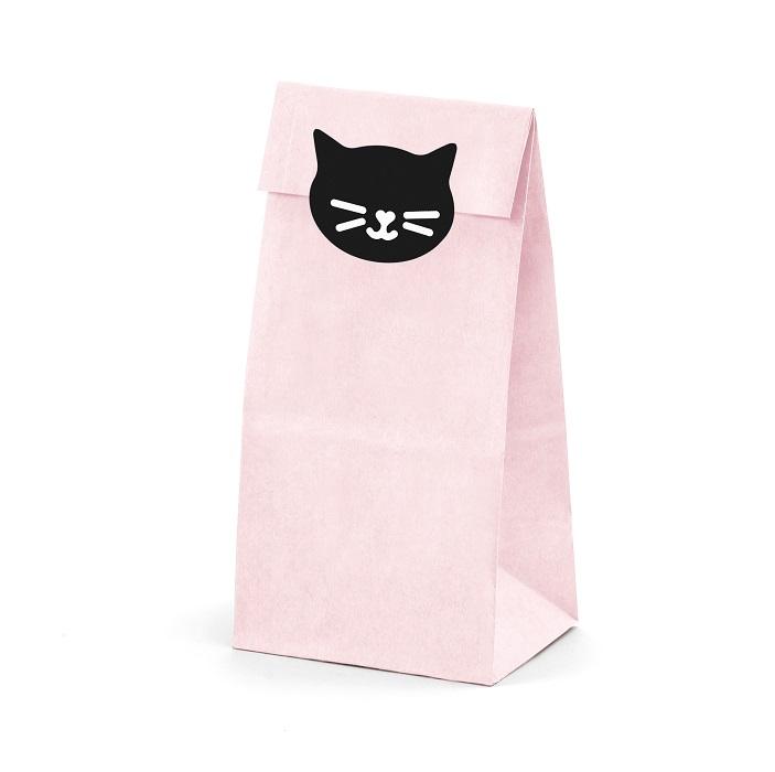Zdjęcie w galerii - Torebki na słodycze Kotek, 8x18x6cm, 6 szt