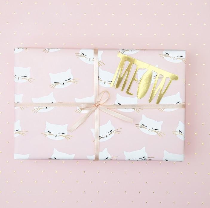 Zdjęcie w galerii - Papier do pakowania prezentów Kotek 2szt