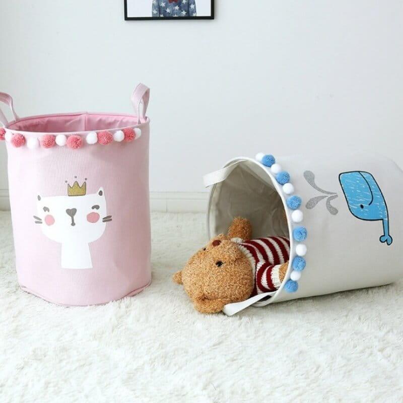 Zdjęcie w galerii - POJEMNIK Na Zabawki Dekoracja Do Pokoju Dziecka WIELORYB