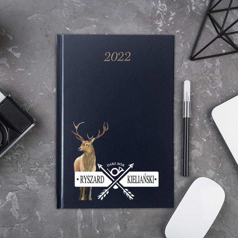 Prezent dla myśliwego. Kalendarz osobisty na rok 2022.