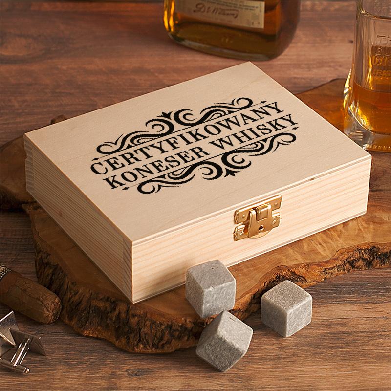 Zdjęcie w galerii - SKRZYNKA Kamienie do Drinków/Whiskey PREZENT dla KONESERA personalizowany