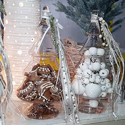 Zdjęcie w galerii - CHOINKA świąteczna szklana duża 43cm
