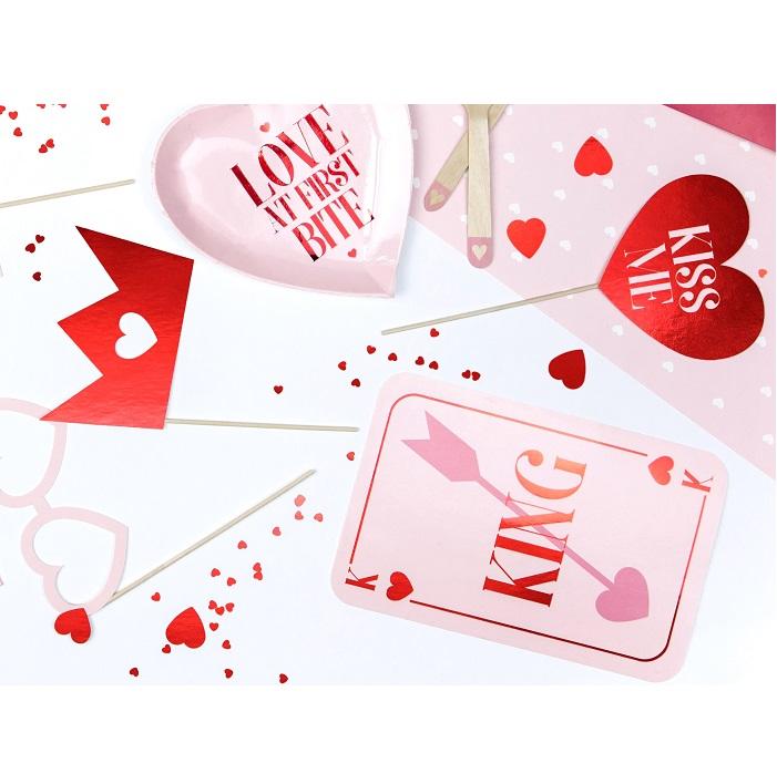 Zdjęcie w galerii - Gadżety do zdjęć na Walentynki – Love is in the air, mix, 7 szt