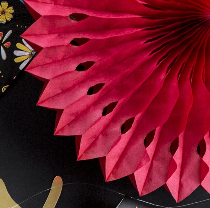 Zdjęcie w galerii - ROZETY dekoracyjne ażurowe 3szt CZERWONE