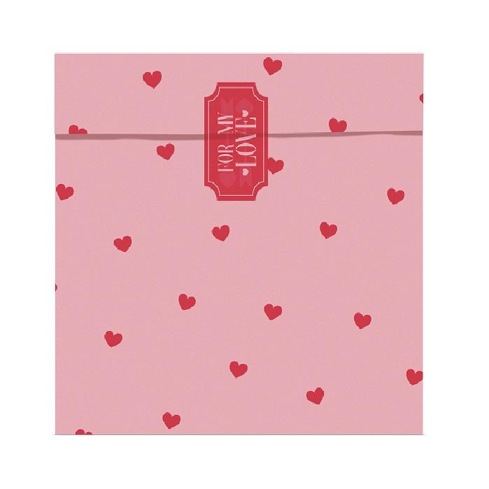 Zdjęcie w galerii - Torebki prezentowe w serduszka Love is in the air 13x14cm