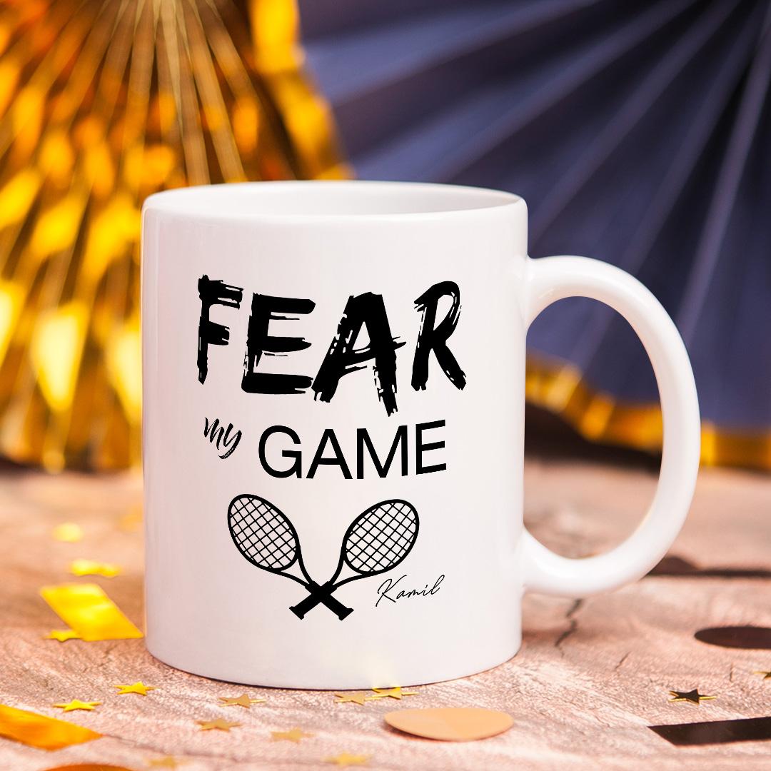 Zdjęcie w galerii - KUBEK Fear My Game dla Tenisisty PERSONALIZOWANY