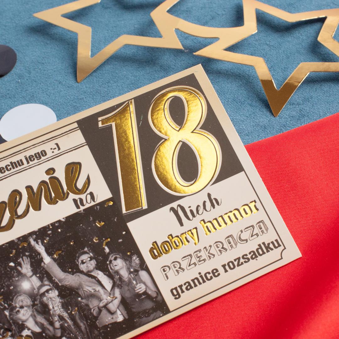 Zdjęcie w galerii - ZAPROSZENIA Na 18 Urodziny Czas Na Hysking 10szt +koperty