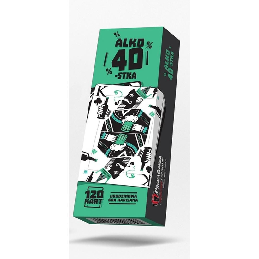 Pudełko z grą w karty na 40 urodziny, które ukrywają szalone zadania do wykonania