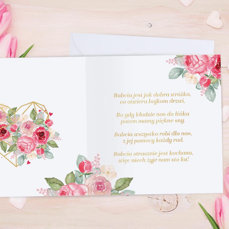Zdjęcie w galerii - KARTKA urodzinowa Dla Najlepszej Babci PERSONALIZOWANA +koperta