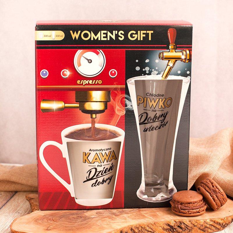 Zdjęcie slidera - ZESTAW Women's Gift Kubek do Kawy i Szklanka do Piwa