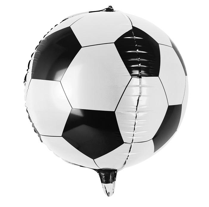 Balon foliowy do wypełnienia helem w kształcie piłki footbolowej