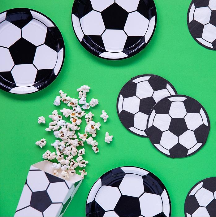 Zdjęcie w galerii - Talerzyki papierowe Piłka, okrągłe 6 szt